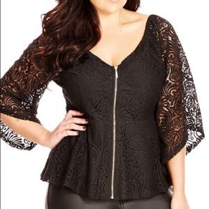 NWOT Gorgeous Lace Top